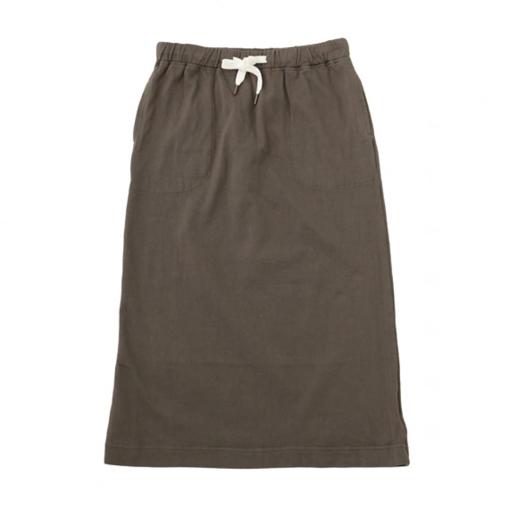 Calf Skirt_92 Charcoal